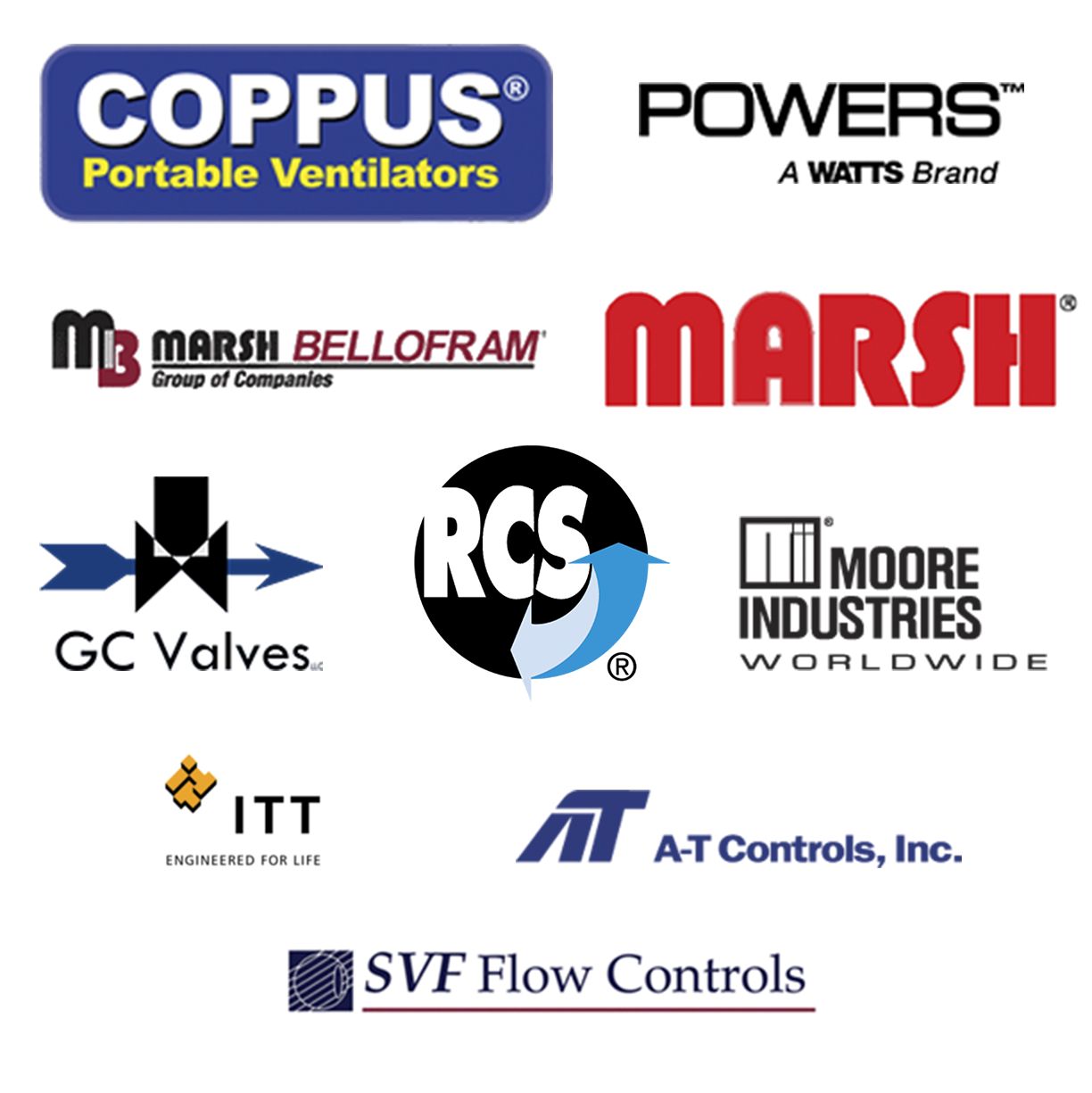 Mountain Controls works with the companies represented by the logos in this image